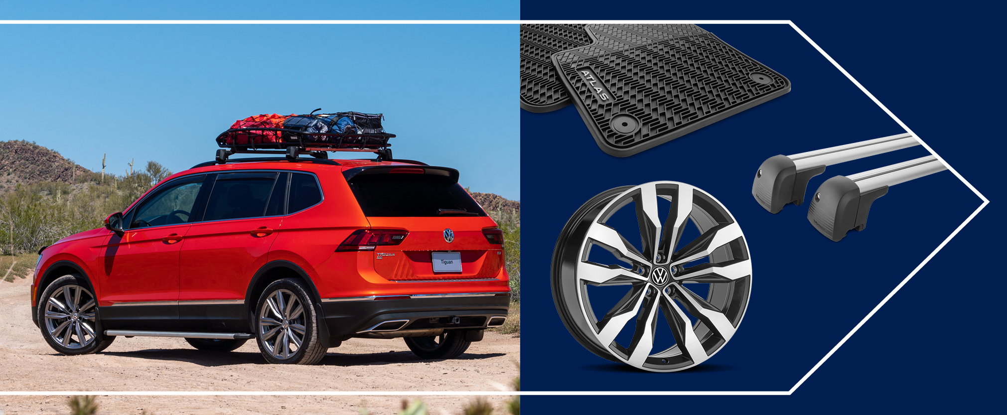 Get a 10% rebate by mail12 via a Volkswagen Visa® Prepaid Card13 (up to $300) when you purchase select Volkswagen Accessories between 10.01.20 and 12.31.20